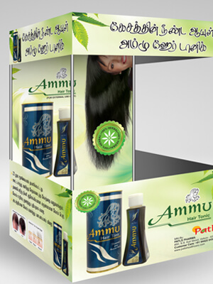 Ammu Hair Oil Stall Canopy Design & Printing