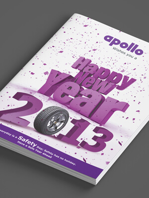 Apollo Tyres News Letter Book Design