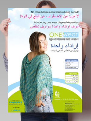 One Wear Poster & Dangler Design